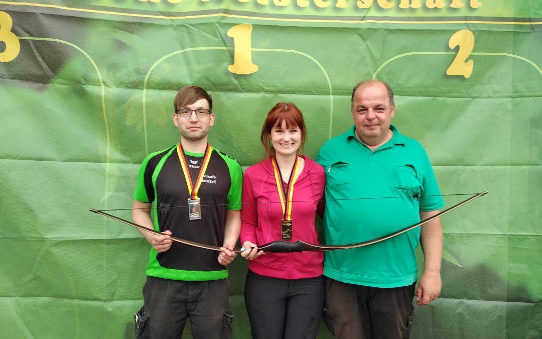 Deutsche Meisterschaft des TBVD (Traditioneller Bogensportverband Deutschland) mit 2 Medaillen abgeschlossen!